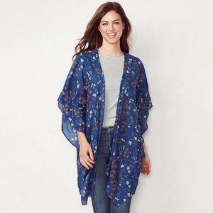 Lauren Conrad Floral Kimono ONE SIZE NWT
